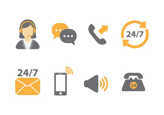 Free Call Centre Vector Icons