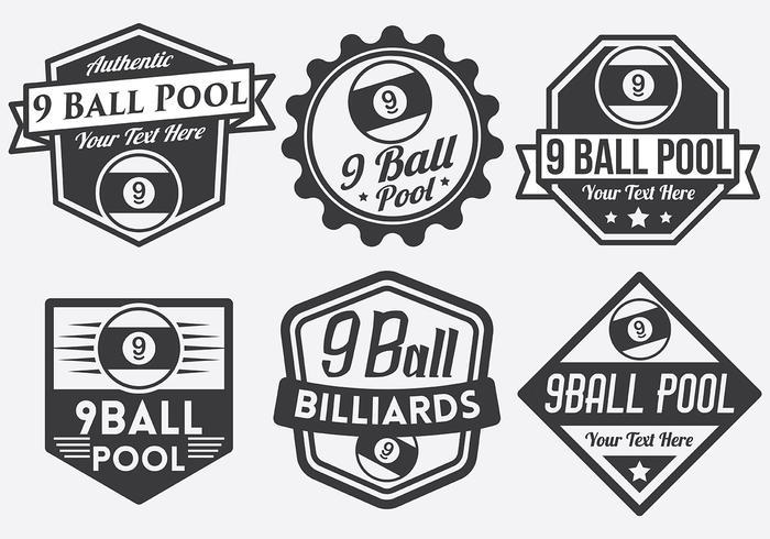 9 Ball Vector Badges