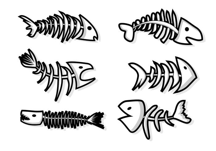 Linha de Fishbone plana
