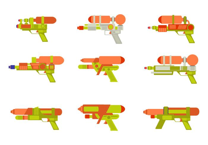 Watergun Flat vector