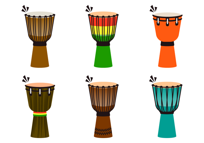 Cool Djembe Vectores