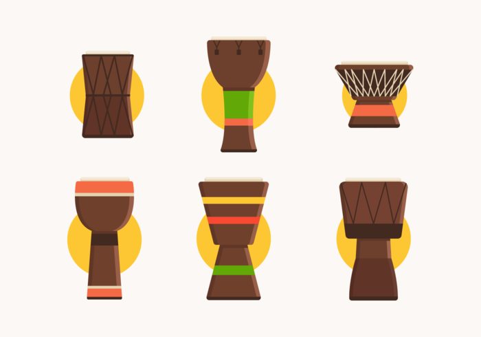 Djembe Free Vector Pack