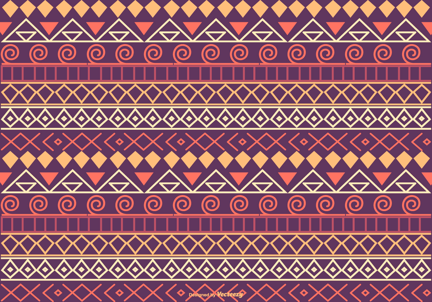 Colorful Boho Style Pattern Background - Download Free ...