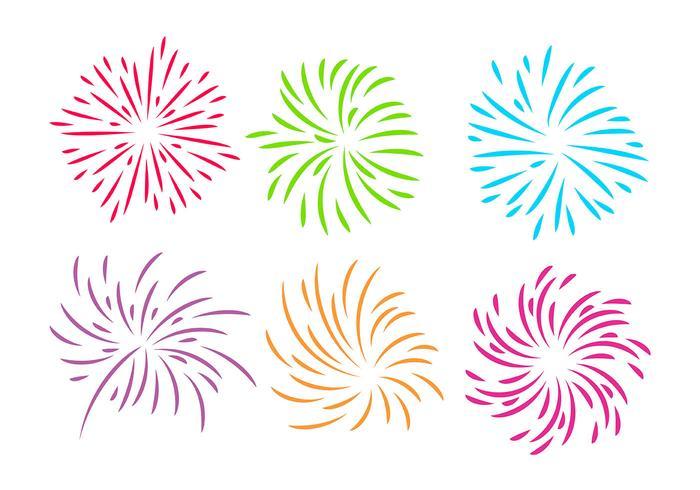 Fireworks White Background Vector
