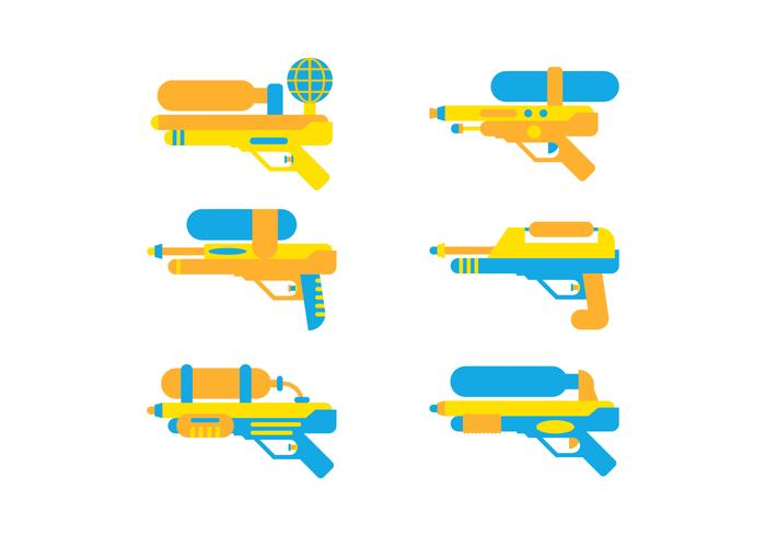 Free Cute Watergun Vector