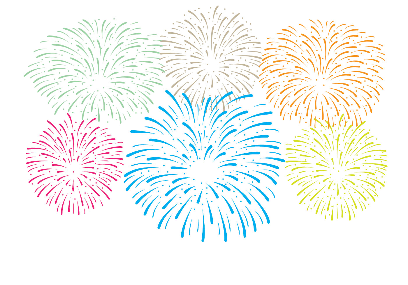 Fireworks White Background Vector - Download Free Vector ...