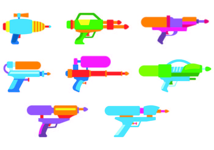 Set Watergun Vectors