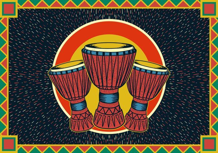 affiche de djembe