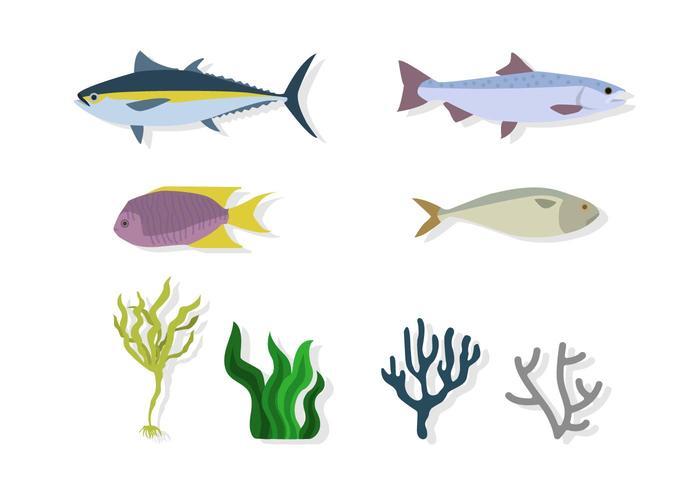 Vettori di ambiente marino piatto