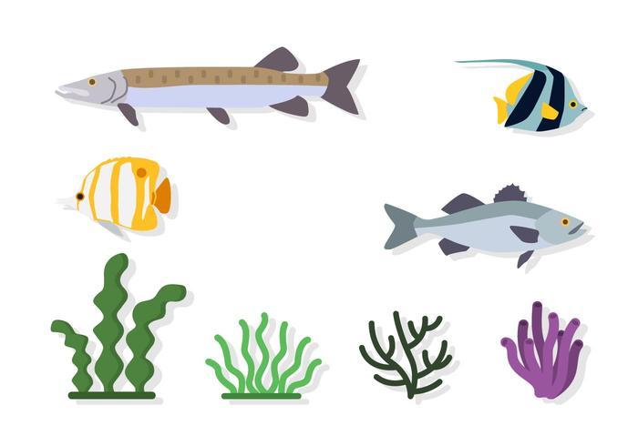 Flat Sea Environment Vectors