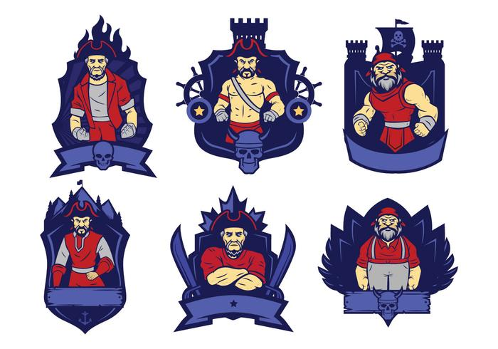Vector do logotipo dos piratas