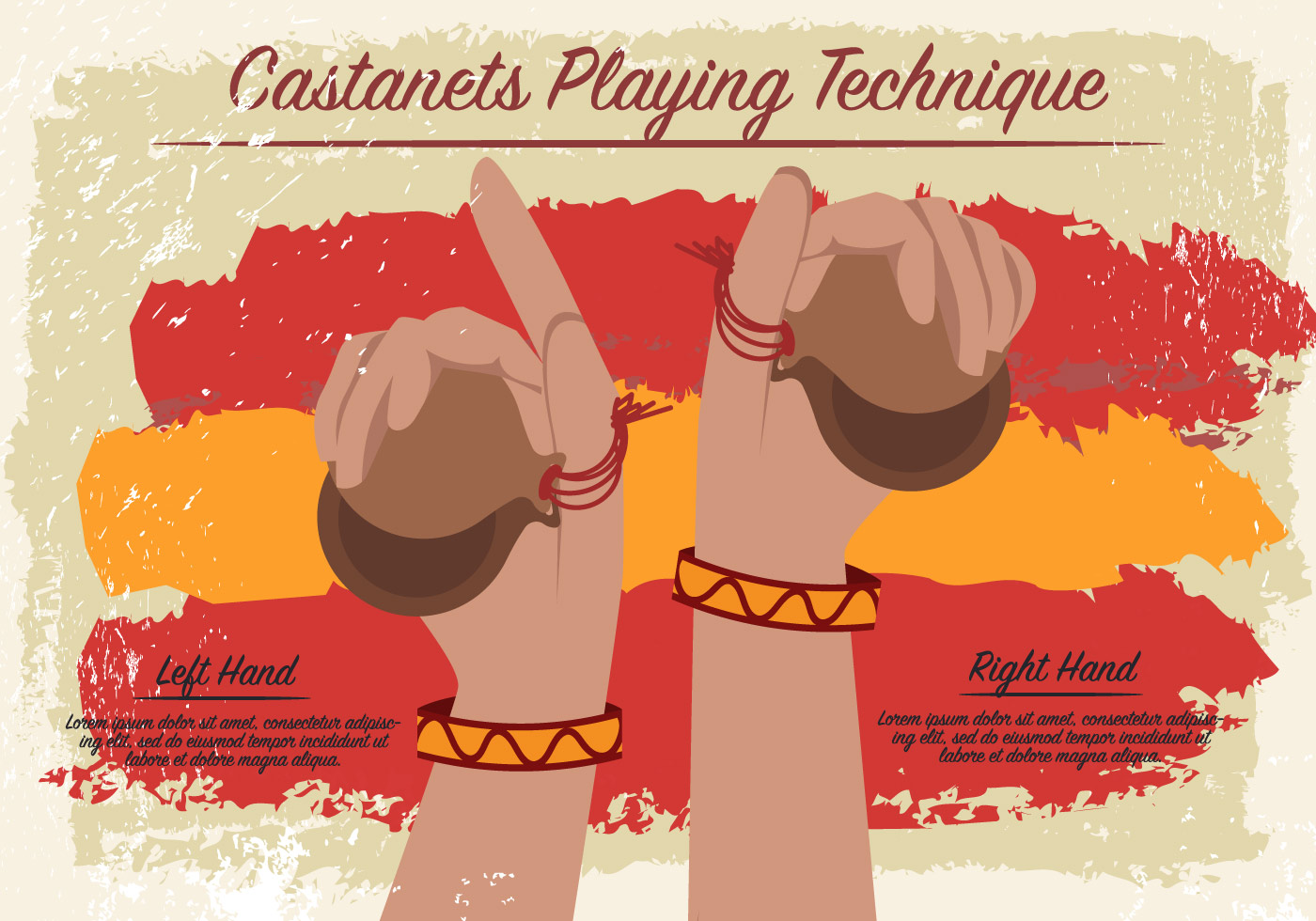 castanets playing technique vector download free vector