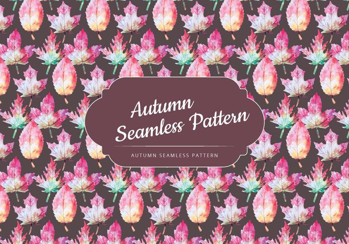 Vector Autumn Leaves Pattern
