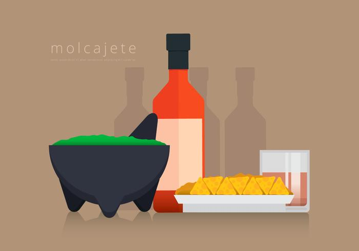 Moljacete and Mexican Food Vector