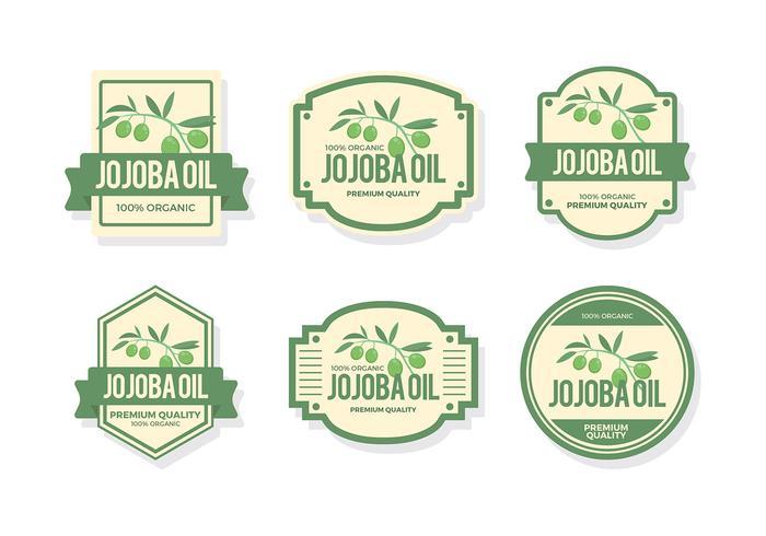 Vettore gratuito dell'etichetta dell'olio di Jojoba