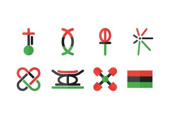 The Seven Principles (Nguzo Saba) vector