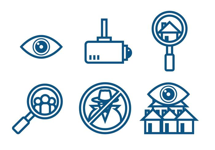 Conjunto de vectores de vigilancia vecindario