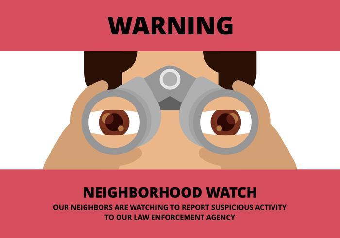 Neighborhood Watch Illustration