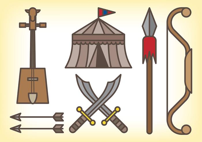 Mongol Vector Icons