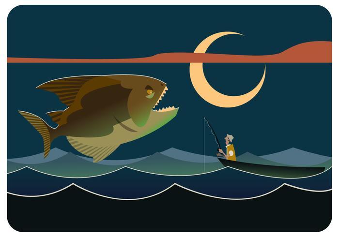 Piranha gigante Vector