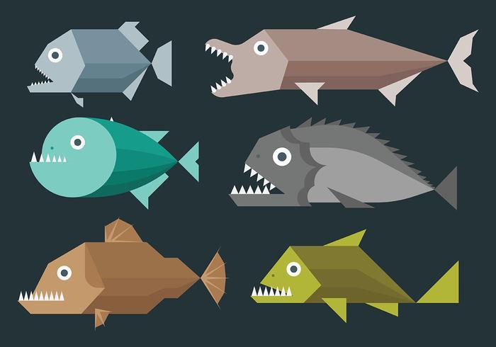 Piranha Vector Icons