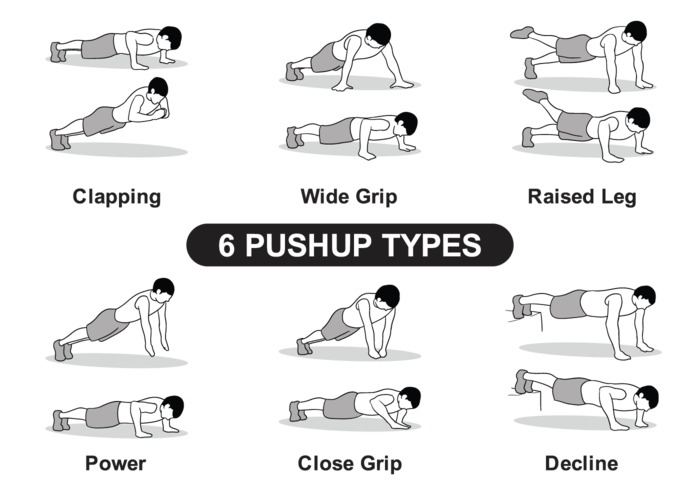 6 types Pushup
