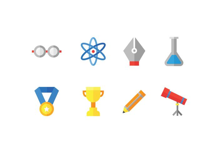 School and education set icons