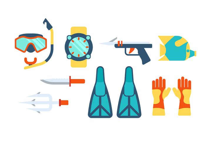 Spearfishing Icon Vector