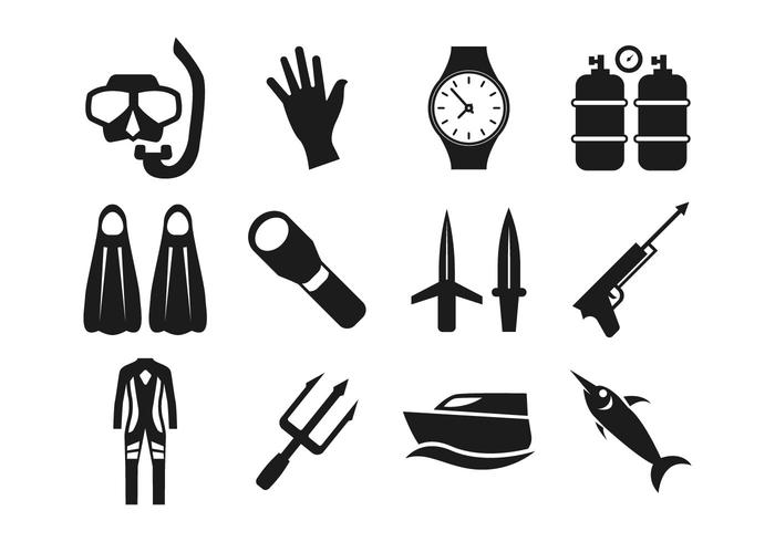 Free Spearfishing Icons Vector