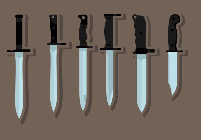 Flat Bayonet Knife  vector