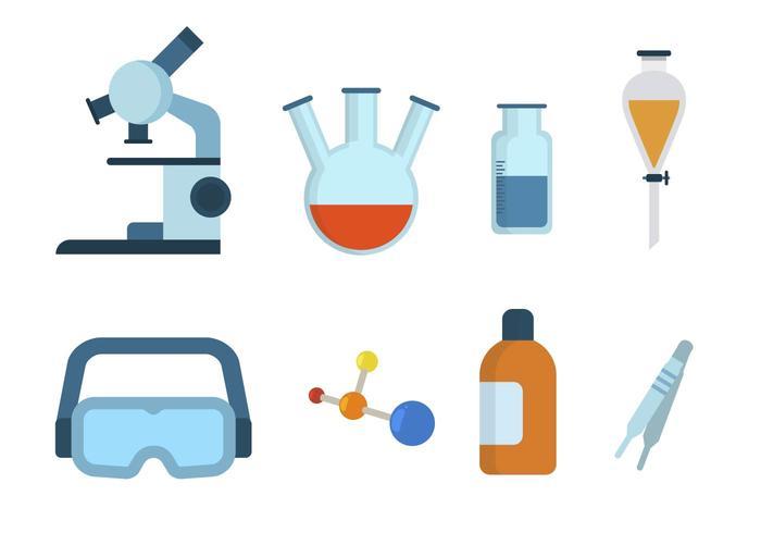 Vettori chimici piatti