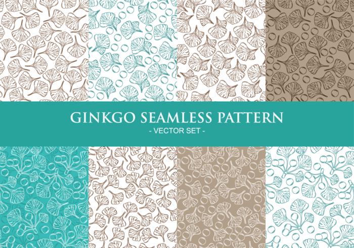 Ginkgo Seamless Patterns