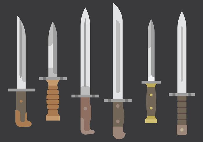 Bayonet Vector Icons