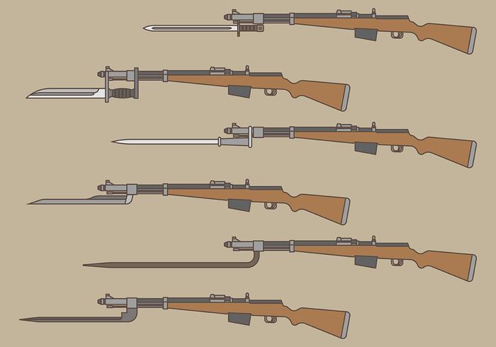 Bayonet Vector Ikoner