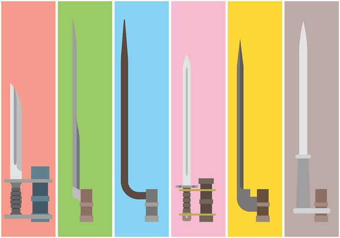Bayonet Vector Icons