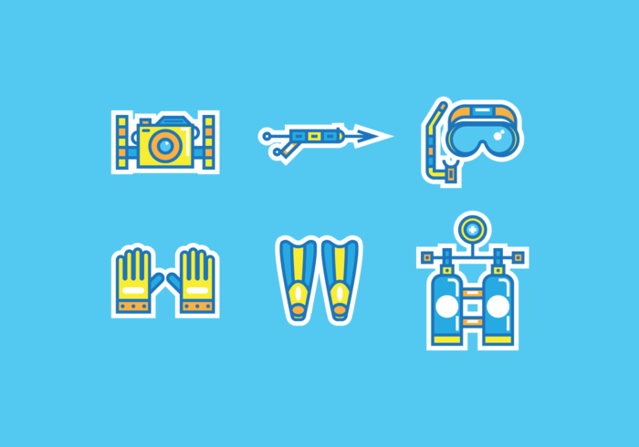 Spearfishing Free Vector Pack