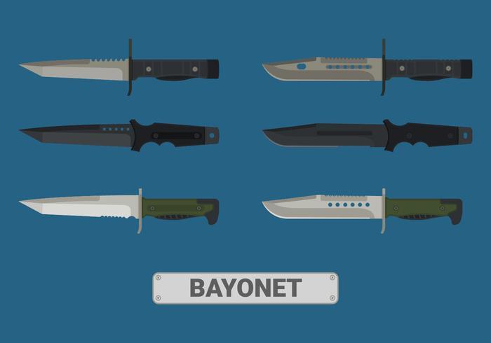 Conjunto de elementos de vetor de baioneta