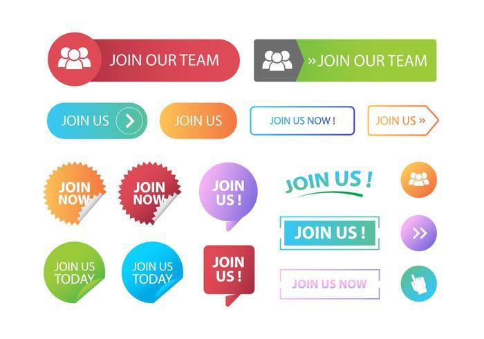 Join Us Button Vectors