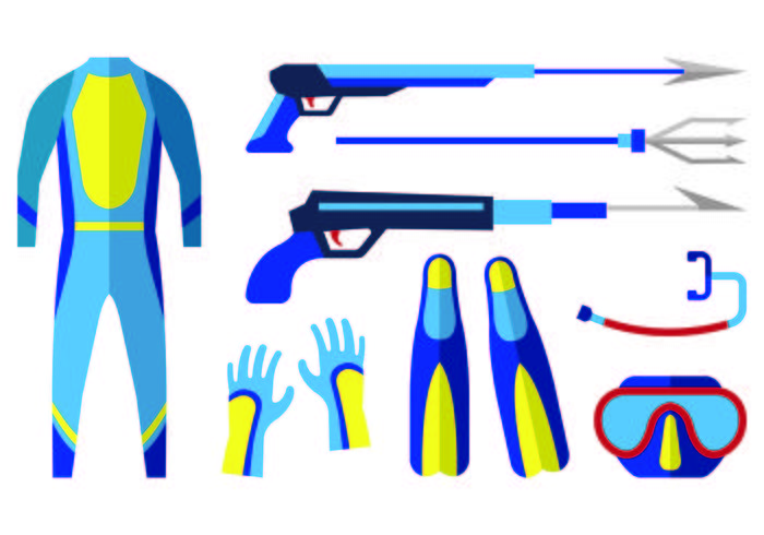 Icon Of Spearfishing  vector