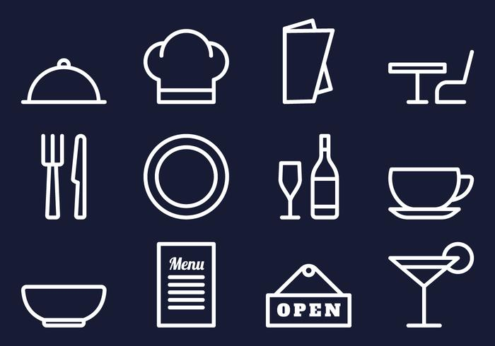 Restaurant Pictogrammen Set