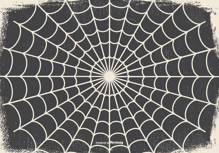 Old Spooky Halloween Spider Web Background
