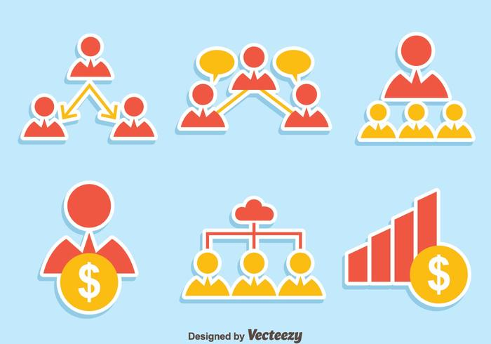 Referral Icons Vector