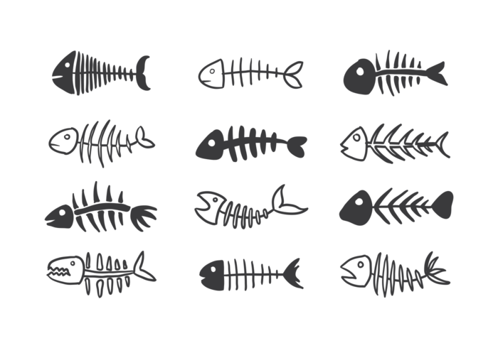 Fishbone iconos vectoriales vector