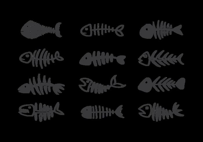 Vetor de ícones Fishbone