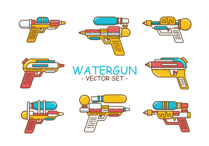 Vector de ícones de Watergun