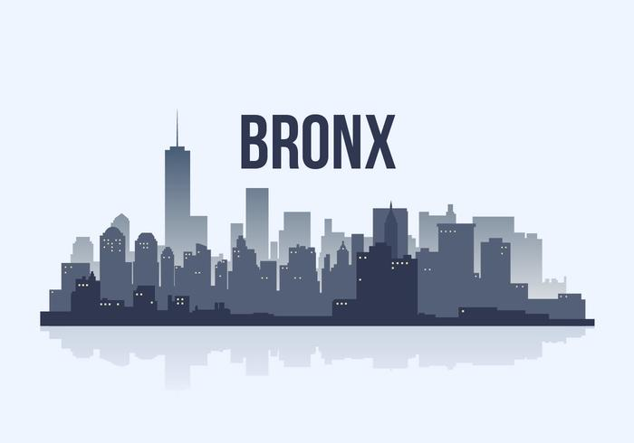 Bronx City Skyline Silhouette Vector Illustration