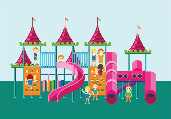 Färgglada Lekplats eller Jungle Gym för barn vektor