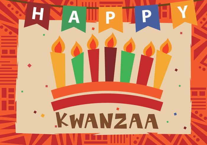 Kwanzaa feliz con la vela de Kwanzaa