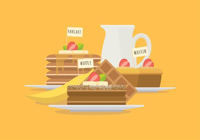 Vecteurs d'objets de petit-déjeuner