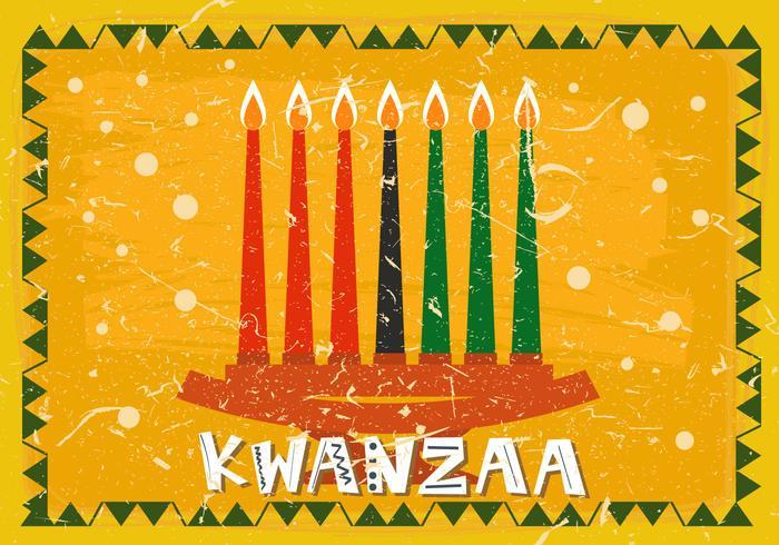 Zeven Kwanzaa Kaars